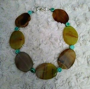 NWOT Stone Bead Necklace